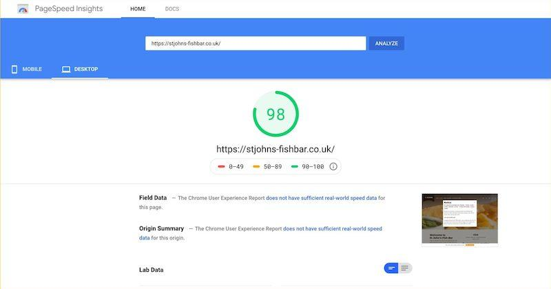 improve core web vitals—google page speed insights report