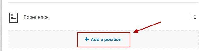 Improve your linkedin profile add a position