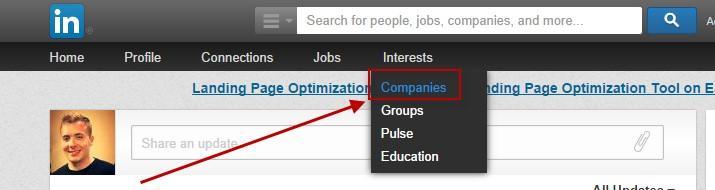 Improve your linkedin profile find a company