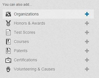 Improve your linkedin profile organizations