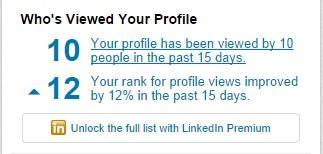 Improve your linkedin profile viewed profile box