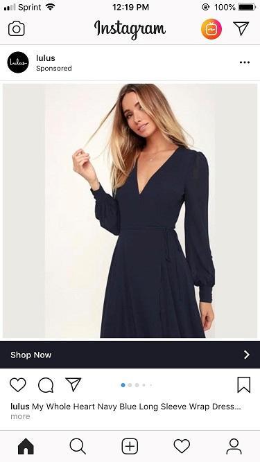 Instagram analytics ad for ecommerce
