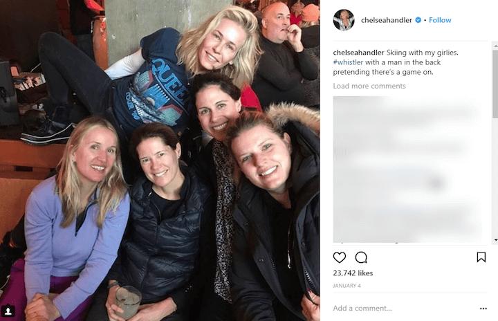 chelsea handler photobomb instagram caption example