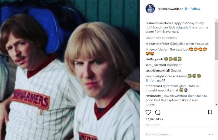 nick swardson funny instagram caption example