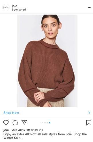 Joie Instagram carousel ad example