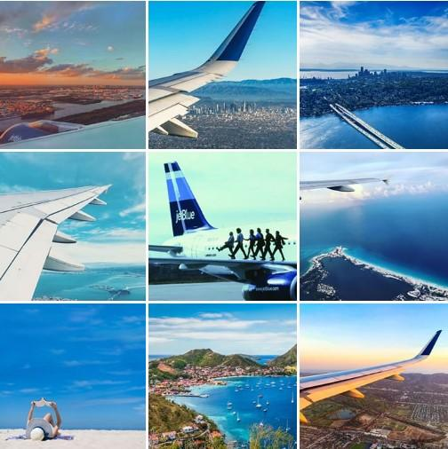 JetBlue Instagram feed