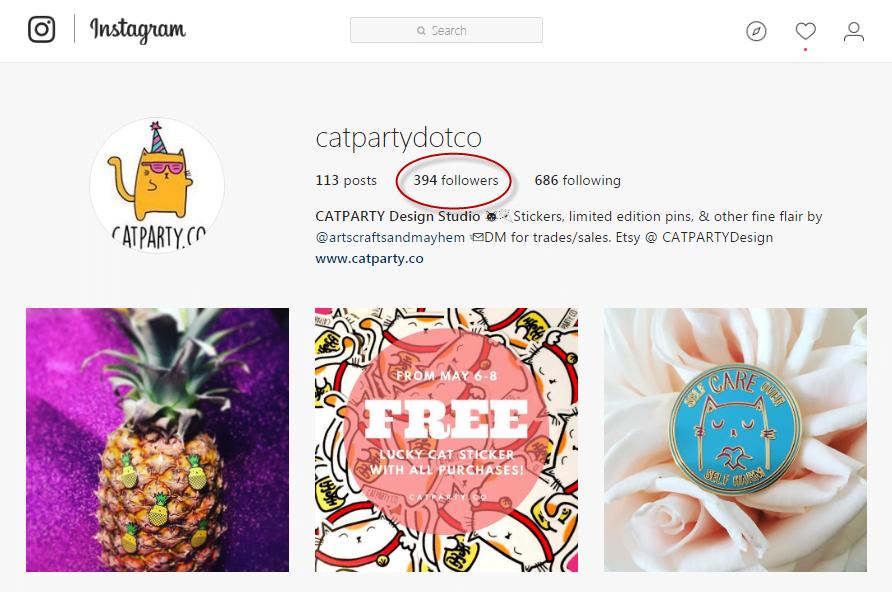 Instagram giveaways follower statistics