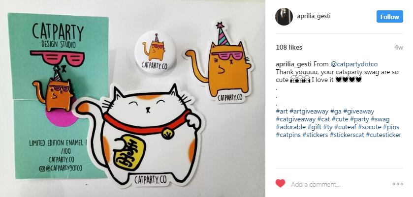 Instagram giveaways winner announcement post