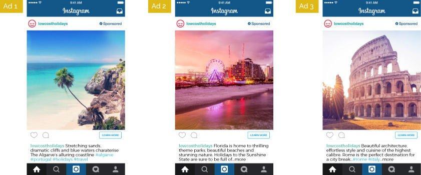 testing instagram video ads