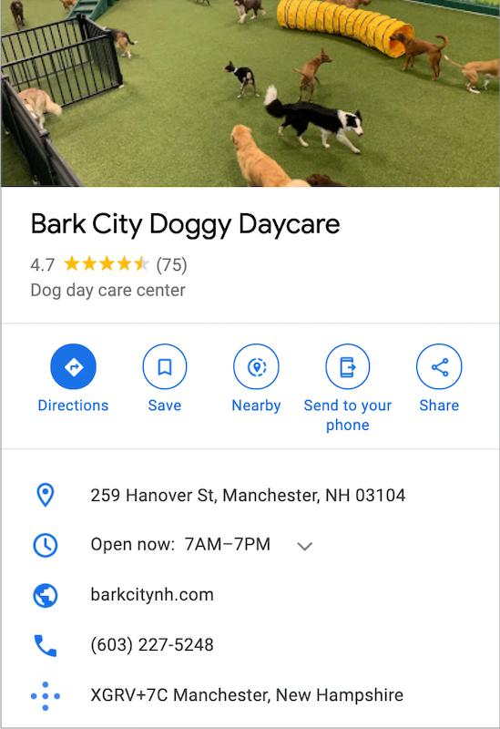 google my business profile update