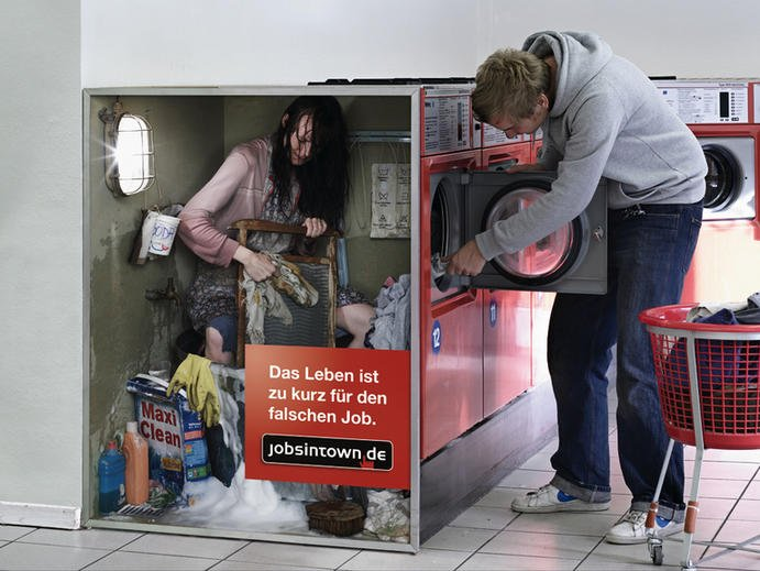 Jobsintown creative advertisement
