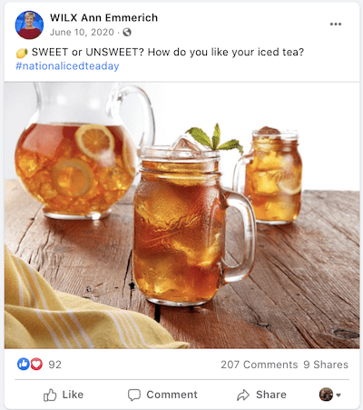 june marketing ideas national iced tea day post