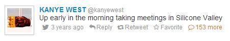 Kanye West's First Tweet