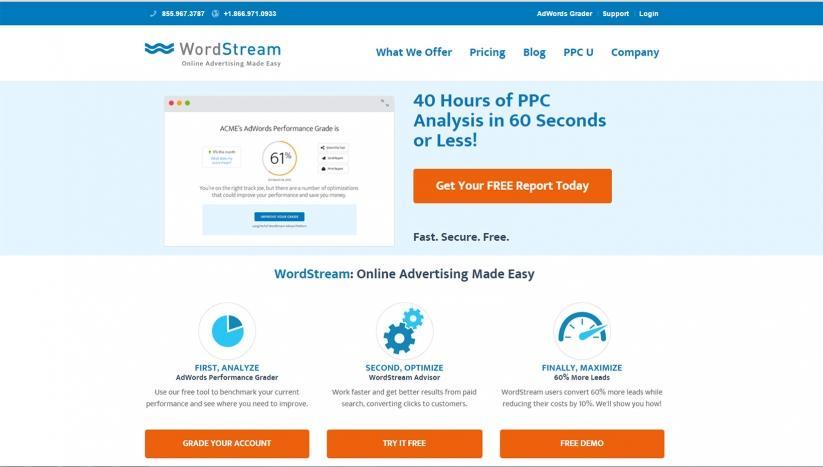 Landing page optimization myths WordStream new offer