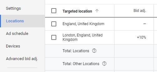location bid adjustments