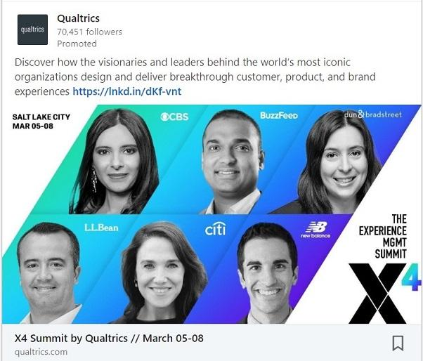 LinkedIn advertising sponsored content