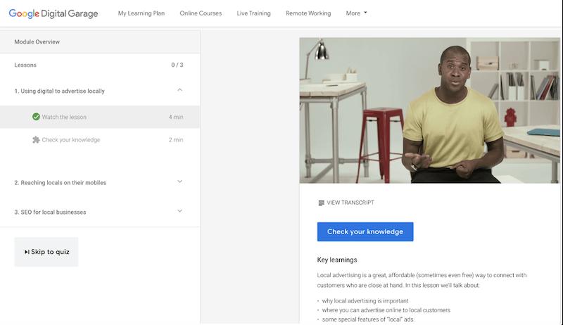free local marketing resources—google digital garage