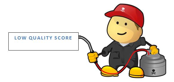 low quality score keywords