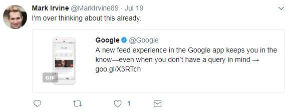 mark irvine reacts to google feed