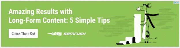 marketing copy example from SEMrush