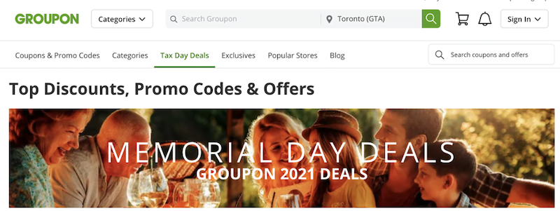 may marketing ideas—groupon memorial day deals
