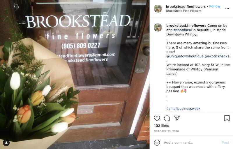 may marketing ideas—instagram post promoting flower shop sale