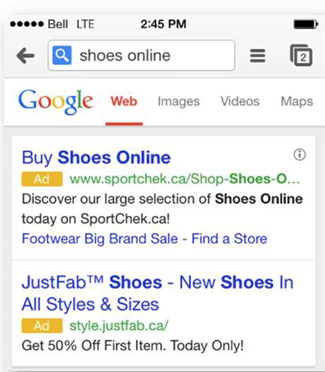 mobile ad copy keywords