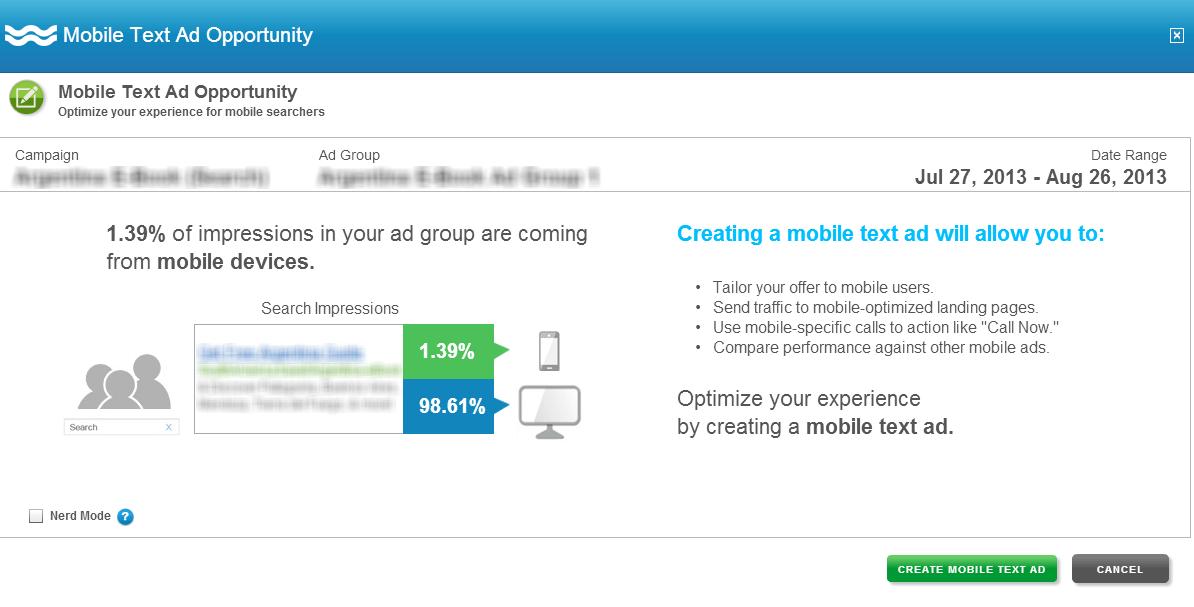 Mobile Ad Alert