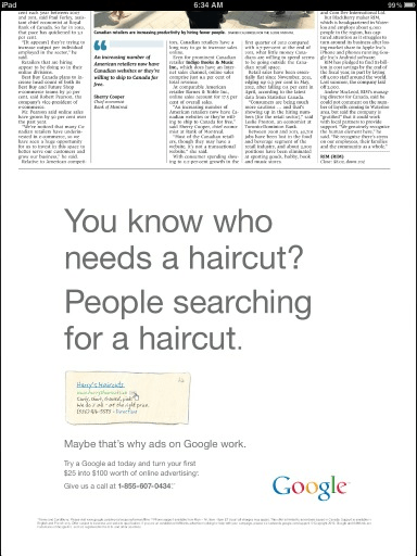 Using custom urls in newspaper ads
