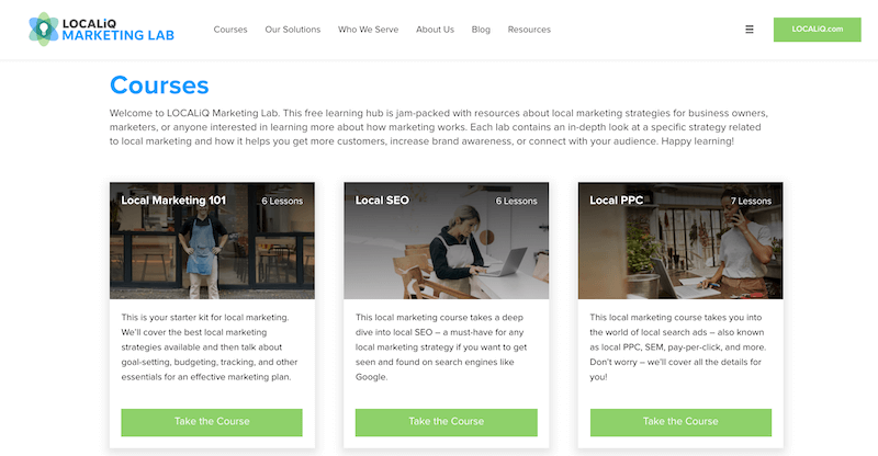 online marketing classes localiq marketing lab