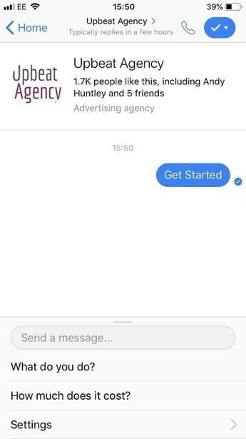 Facebook Messenger bot example