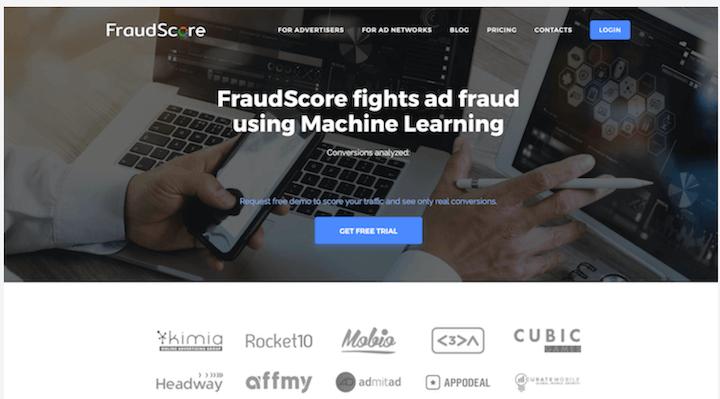 fraudscore homepage- ad fraud prevention software