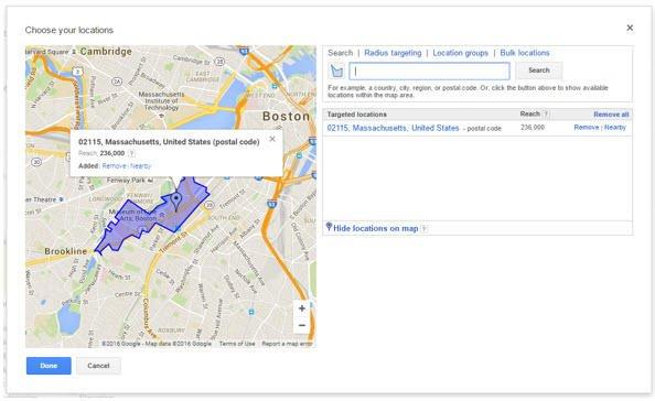 location targeting
