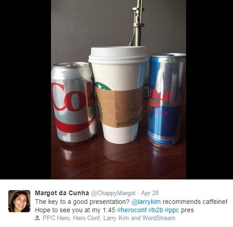 Presentation tips image of caffeine