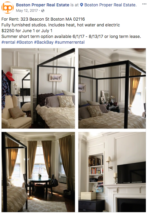 Real estate Facebook ads transparent ad copy example