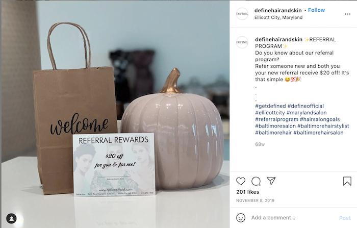 referral marketing ideas—instagram referral promotion post