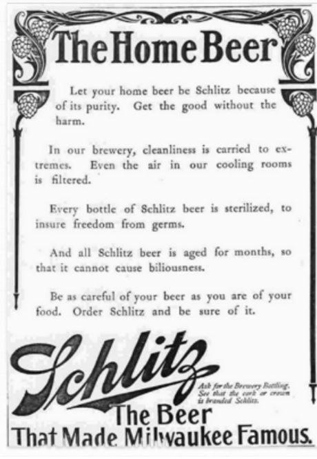 market a product vintage schlitz ad