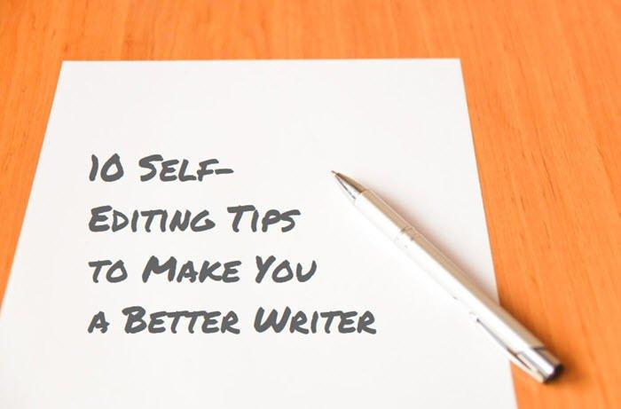 self editing tips