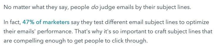 seo copywriting example from HubSpot