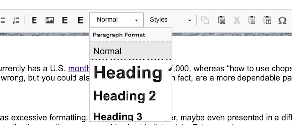 seo readability tips header tags