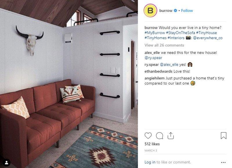 social-shopping-burrow-instagram-post