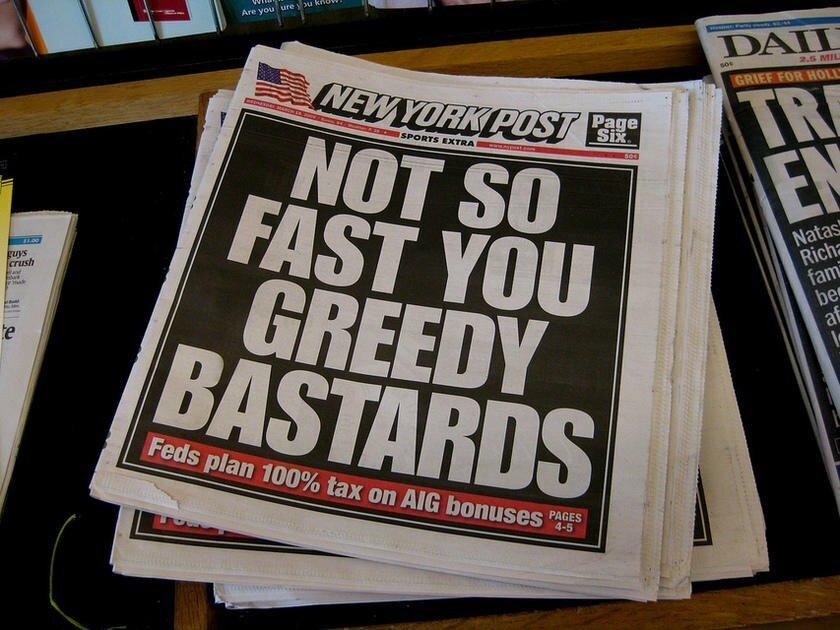 Storytelling in content marketing newspaper headline