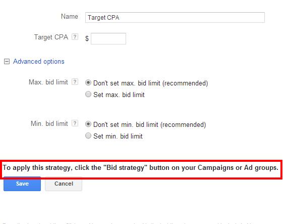 Flexible Bid Strategies Target CPA