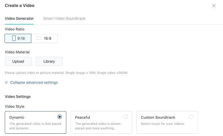 create a TikTok video ad screen