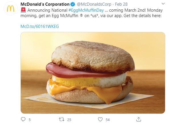 egg mcmuffin tweet