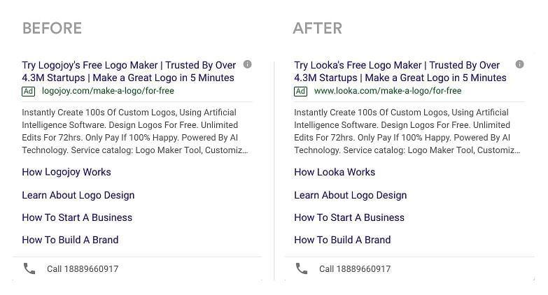 Google Ads rebrand example