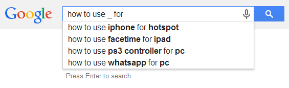 google suggest keyword research