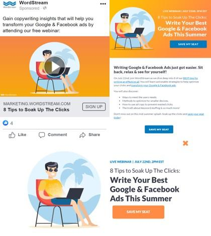 webinar marketing examples of consistency across channels