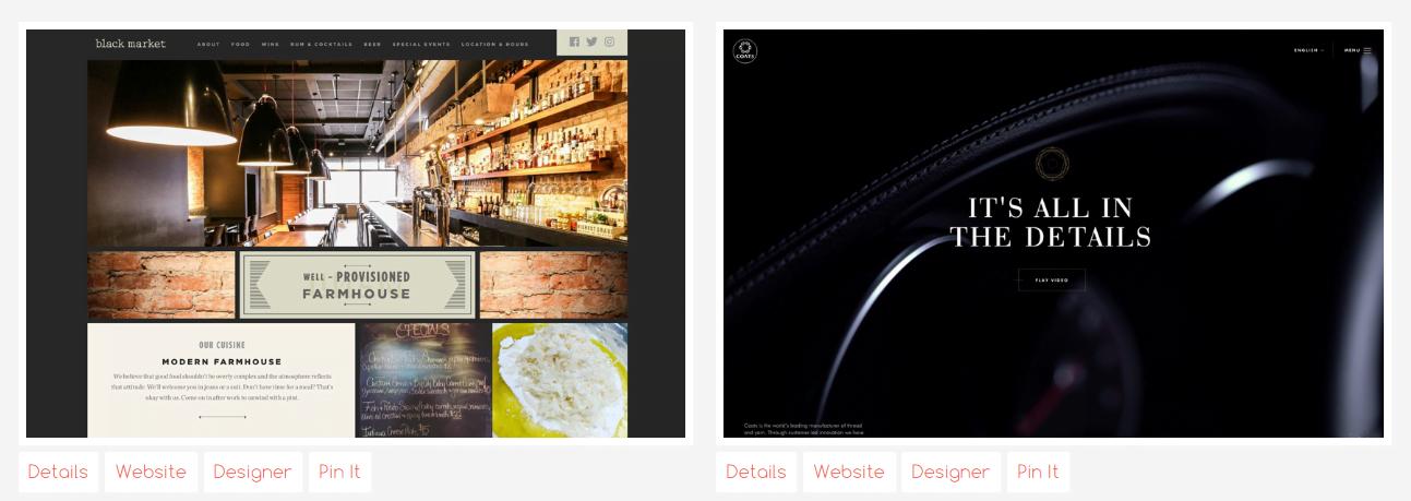 Web design inspiration The Best Designs