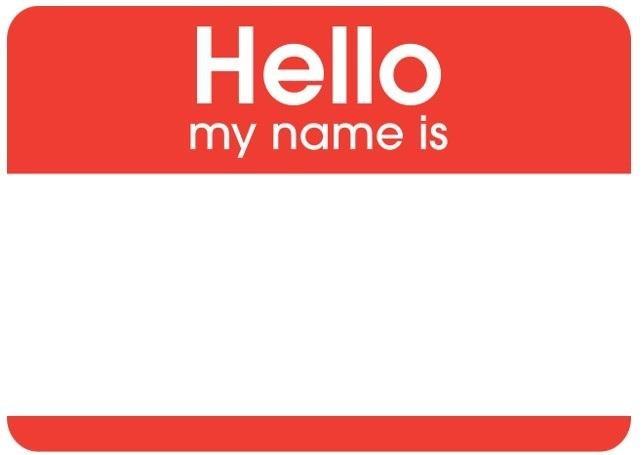 blank name tag